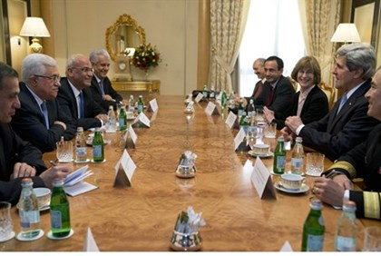 PA Chairman Abbas, US Secy of State Kerry