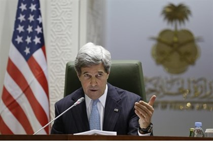 John Kerry, at a press conference in Riyadh