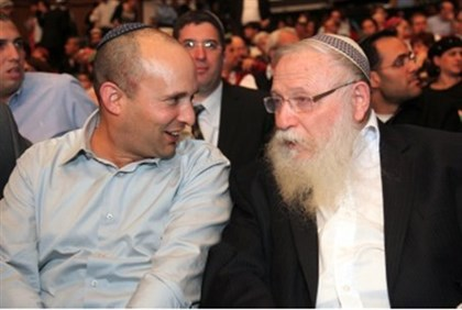 MK Bennett and Rabbi Druckman