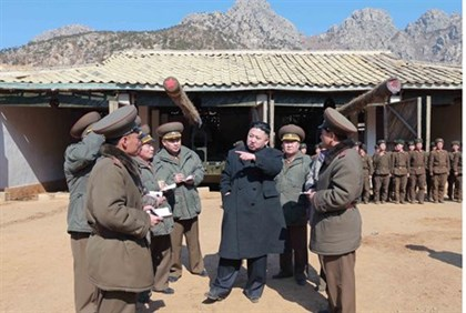 Leader Kim Jong-Un visits the Korean People's Army