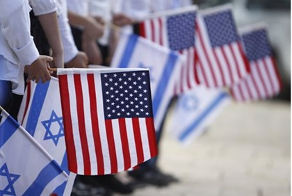 Flags Israel USA