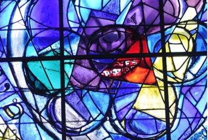 The Chagall Windows in the Abbell Synagogue at the Hadassah University Medical Center in Jerusalem