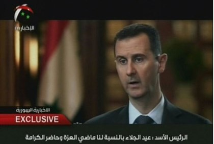 Assad on state television channel Al-Ikhbariya