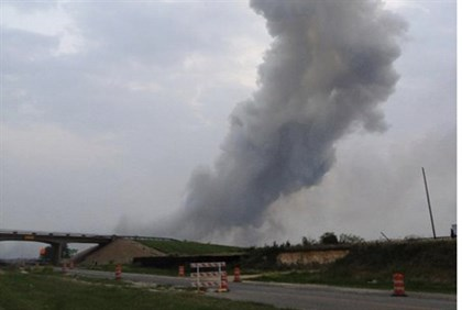 West Fertilizer Plant in flames