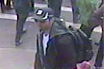 Suspect in Boston terror attack in this image taken from a video released by the FBI