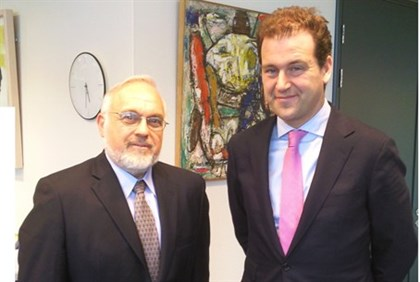 Rabbi Abraham Cooper and the Netherlands' Deputy Prime Minister Ascher