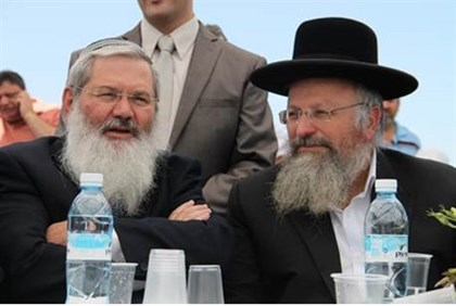 Rabbi Ben Dahan with Rabbi Shmuel Eliyahu