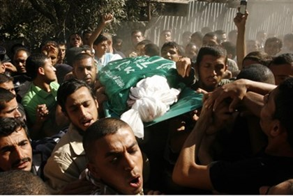 Funeral for terrorist killed in airstrike (archive)
