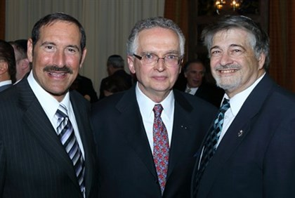 Peters with Dr. Joe Frager, Dr. Paul Brody
