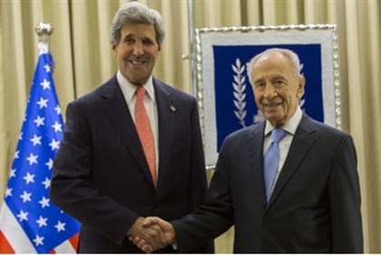 Kerry with Peres