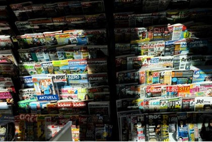 German newspaper stand