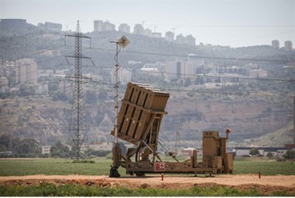 Iron Dome anti-missile battery near Haifa