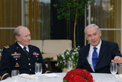 Netanyahu with Dempsey