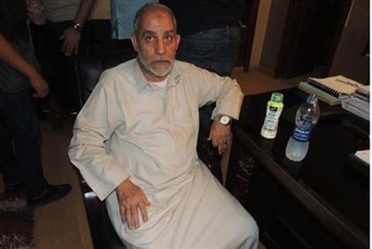 Egyptian Muslim Brotherhood leader Mohammed Badie following his arrest