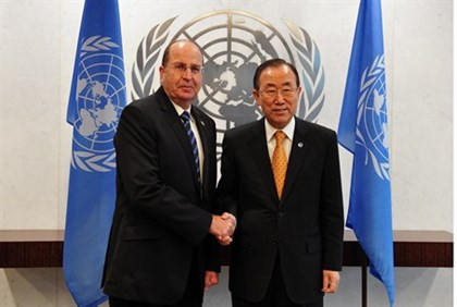 Yaalon meets UN Secretary General