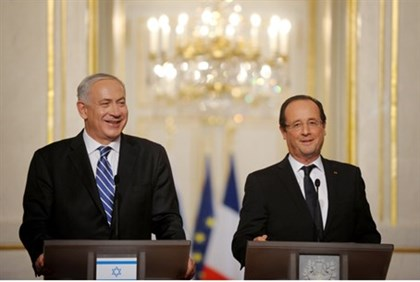 Netanyahu and Hollande (file)