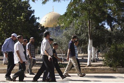 Jewish visitors on the Temple Mount