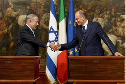 Netanyahu and Letta