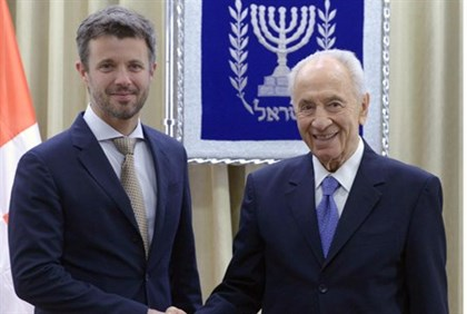 Crown Prince Frederik and President Shimon Peres