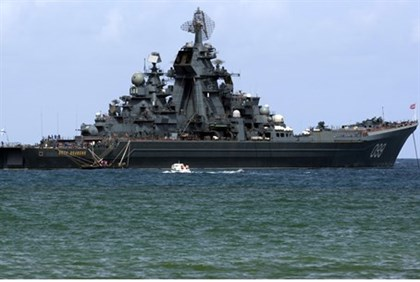 Russia's Pyotr Veliky (Peter the Great) nulcear-powered battleship