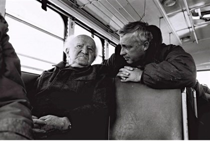 In this 1970 photo, David Ben Gurion (Left) speaks with Ariel Sharon