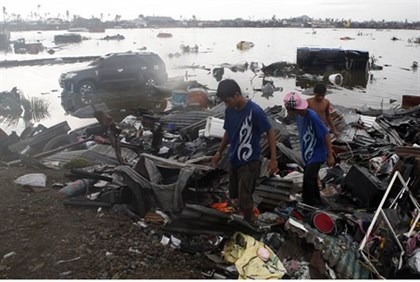 Aftermath of typhoon in the Philippines