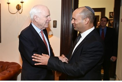 Naftali Bennett Meets John McCain in Washington