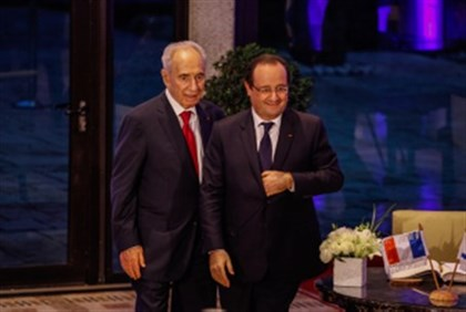 Peres with Hollande