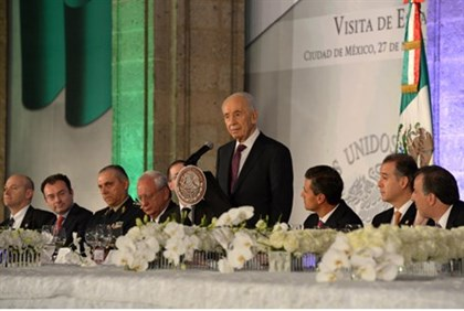 President Shimon Peres in Mexico