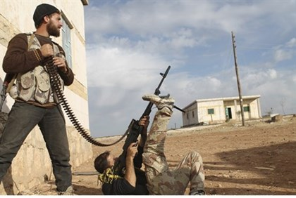 Syrian rebels in Aleppo