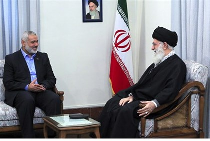 Hamas leader Ismail Haniyeh with Ayatollah Ali Khamenei (illustration)