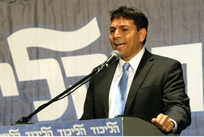 Danny Danon at Likud meeting (file)
