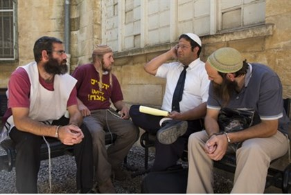 Itamar Ben-Gvir with Yitzhar residents
