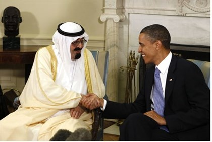 U.S. President Barack Obama meets with King Abdullah of Saudi Arabia