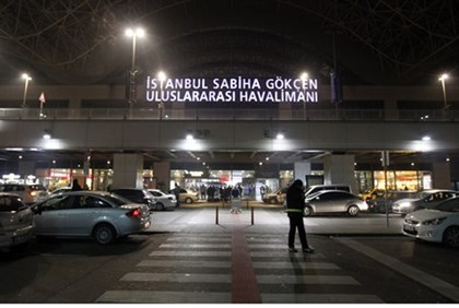 Sabiha Gokcen Airport of Istanbul after failed hijacking