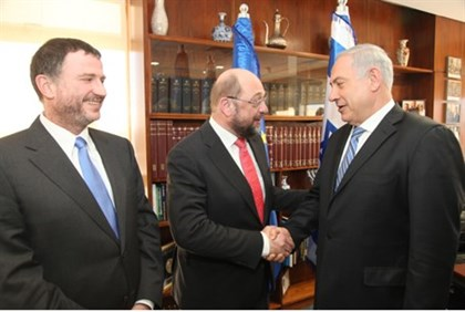 Edelstein, Schulz and Netanyahu