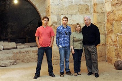 The Netanyahu family (file)