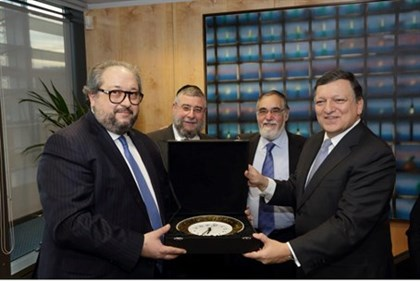 European rabbis meet Jose Manuel Barroso
