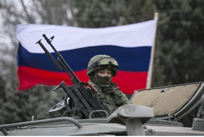 Russian troops in Crimean border town of Baklava
