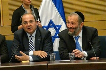 MKs Aryeh Deri and Ahmed Tibi