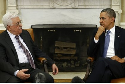 Mahmoud Abbas meets with Barack Obama, March 2014