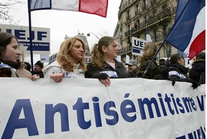 Paris march against anti-Semitism (file)
