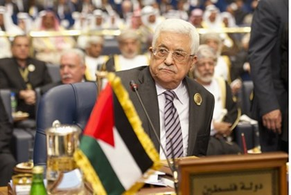 Mahmoud Abbas at the opening of the 25th Arab League summit in Kuwait