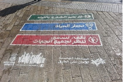 Jerusalem Municipality signs in Arabic