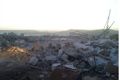 Buildings demolished in Yitzhar