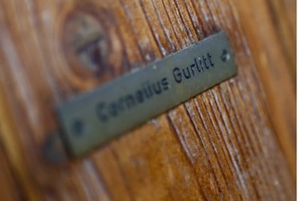 The name plate on the house of Cornelius Gurlitt