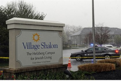 Village Shalom assisted living residence after today's shooting.