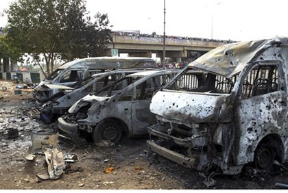 Aftermath of Nigeria bus bombing