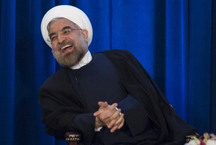 Hassan Rouhani is amused (file)