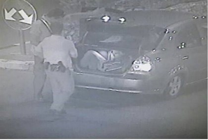 Discovery of Arabs in the trunk on security camera